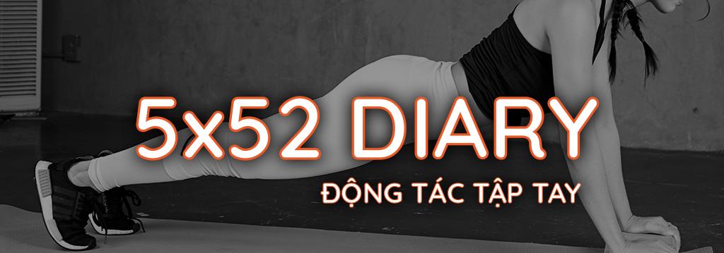 Nhật ký 5x52 Gymme - Động Tác Tập Tay