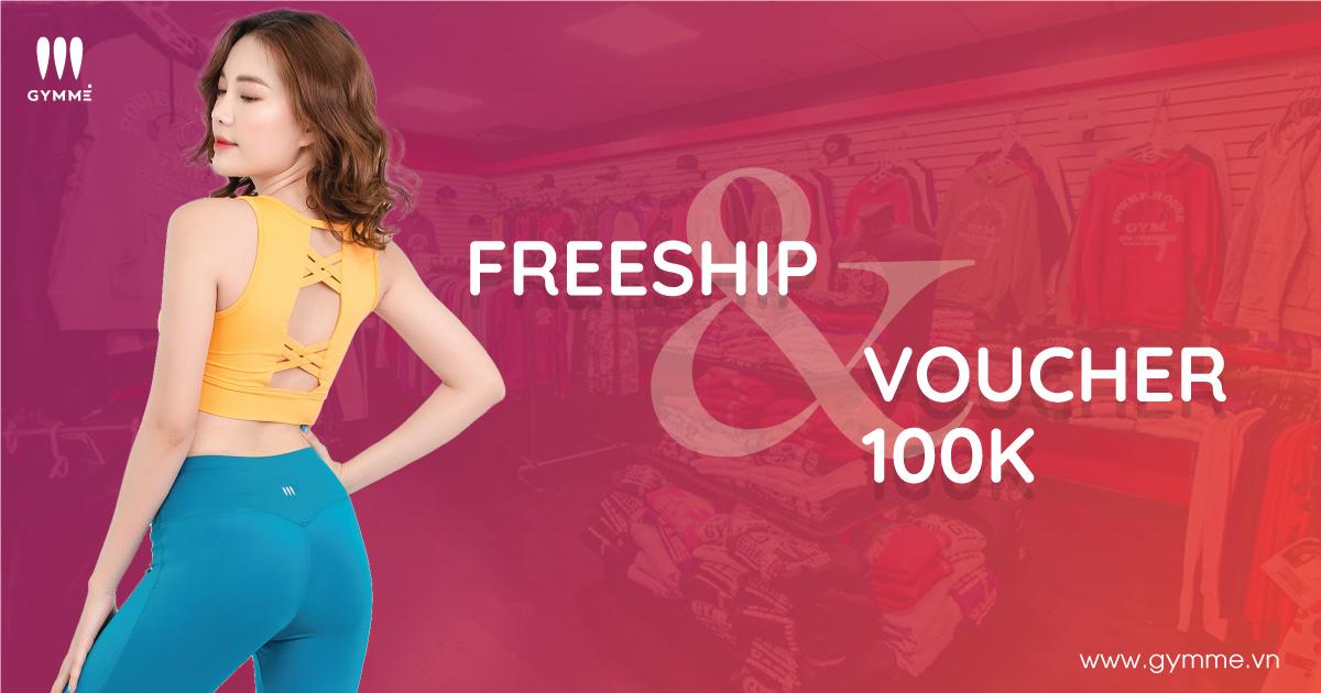 Gymme Freeship & Voucher 100k